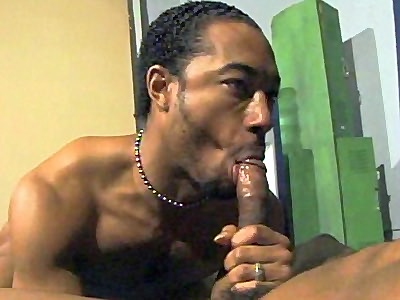 good looking Black Dude Gay Cock Sucking
