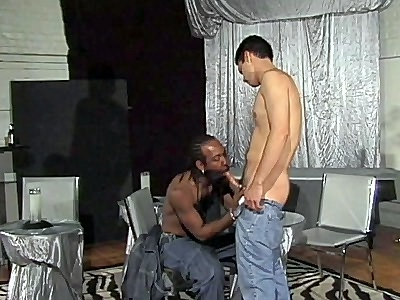Black Dude Interracial Blowjob